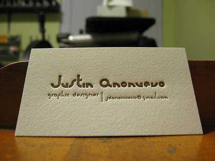 Creative business cards the typography