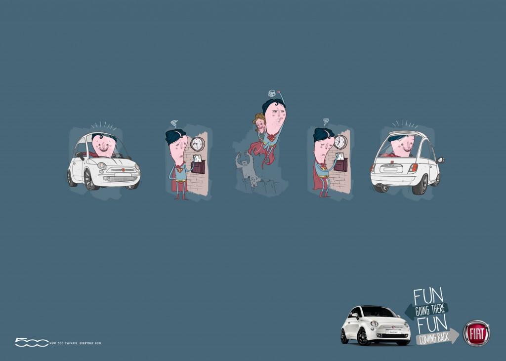 Hero Fiat 500 Advert